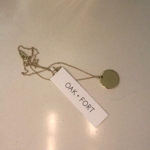 Oak + fort necklace